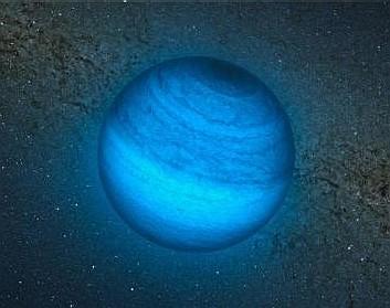 Impresión artística del exoplaneta CFBDSIR J214947.2-040308.9 observado en infrarrojo. Crédito: ESO/L. Calçada/P. Delorme/Nick Risinger/R. Saito/VVV Consortium.
