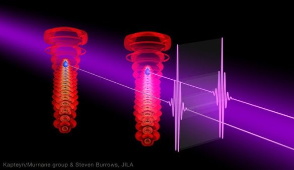 Láseres ultravioletas producen pulsos cortos tipo láser de rayos X. / Kapteyn-Murnane Group, Steven Burrows, JILA