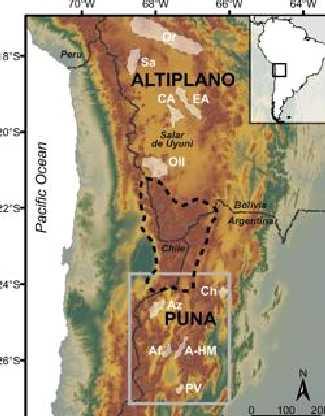 Situación del Altiplano de Puna- Ducea et. al, 2013